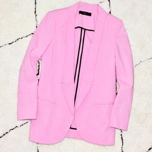 TIBI tailored boyfriend style suiting blazer pink
